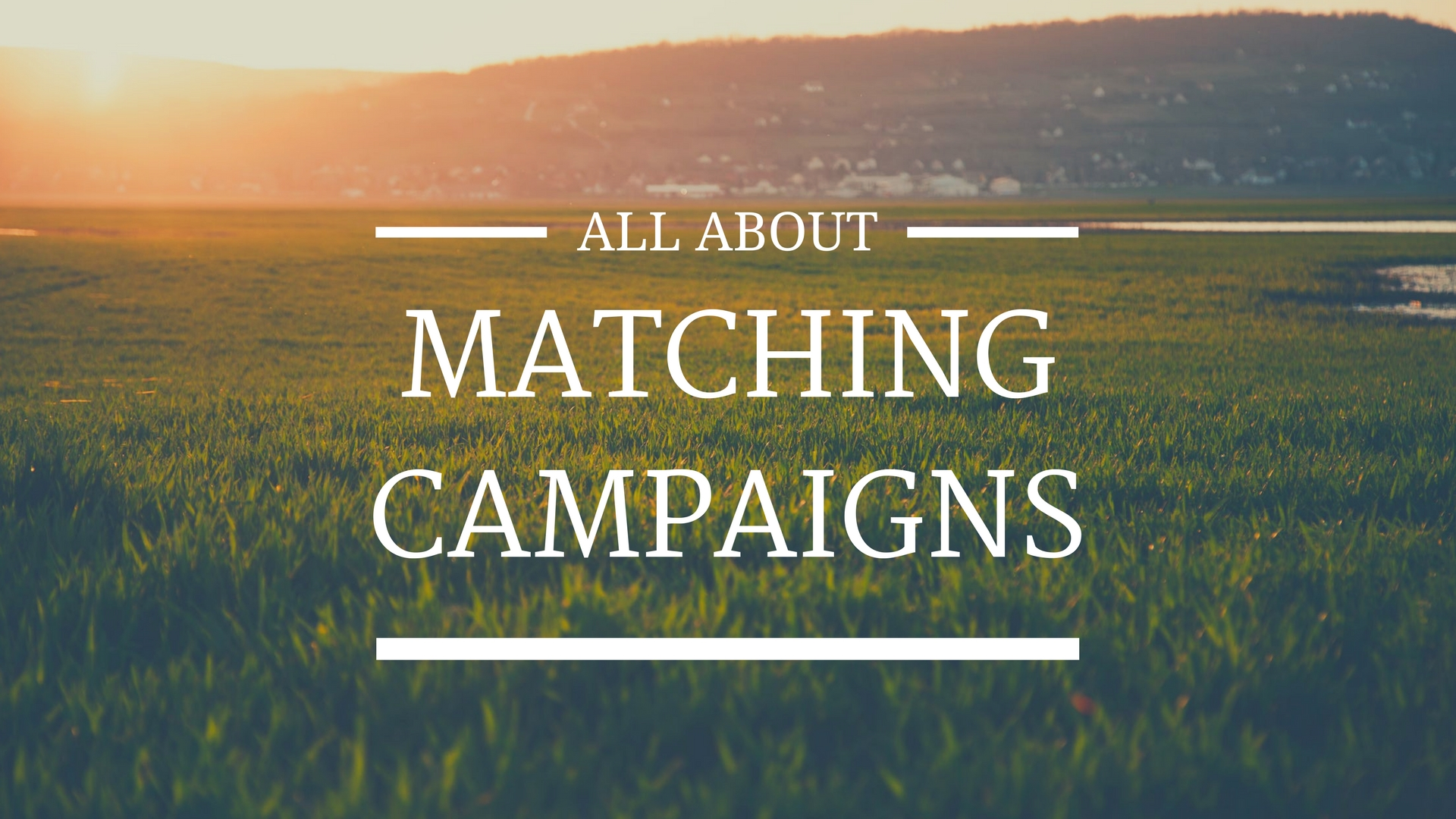 All About Chesed Fund Matching Campaigns